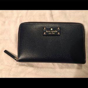 Kate Spade Navy Blue Large Wallet